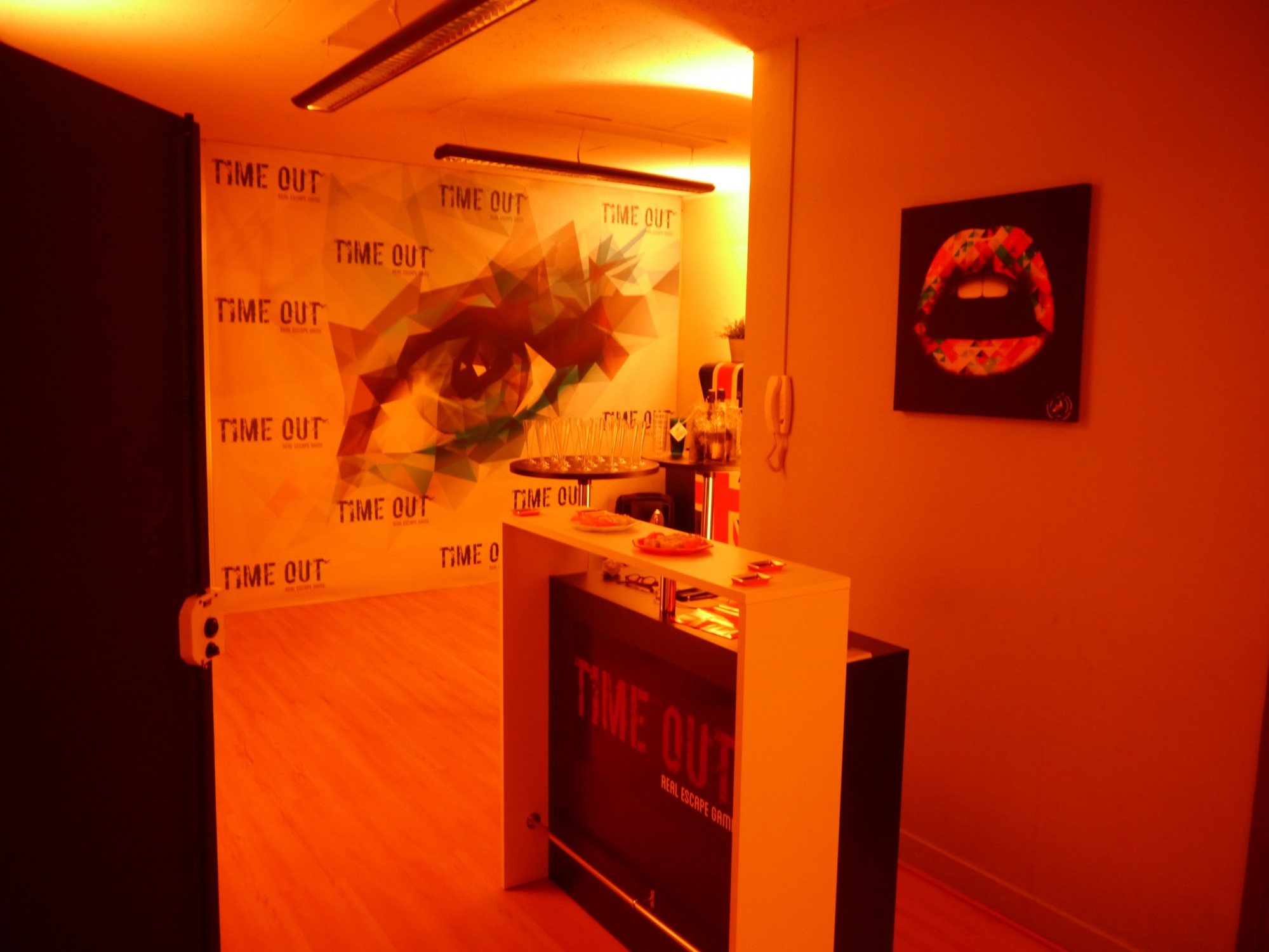 L'accueil chez TIME OUT Real Escape Game
